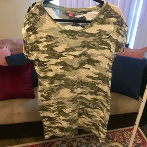 Vince Camuto Camo T-Shirt Dress